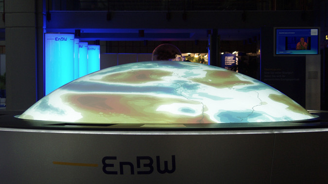 Side view of the EnBW Energy Globe